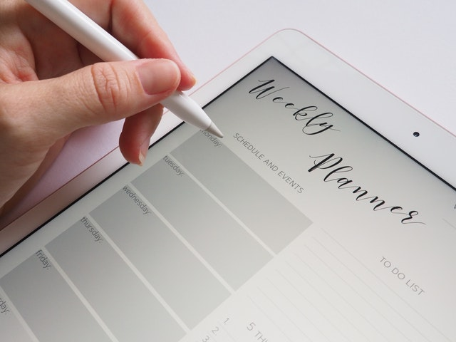 ipad with planning app